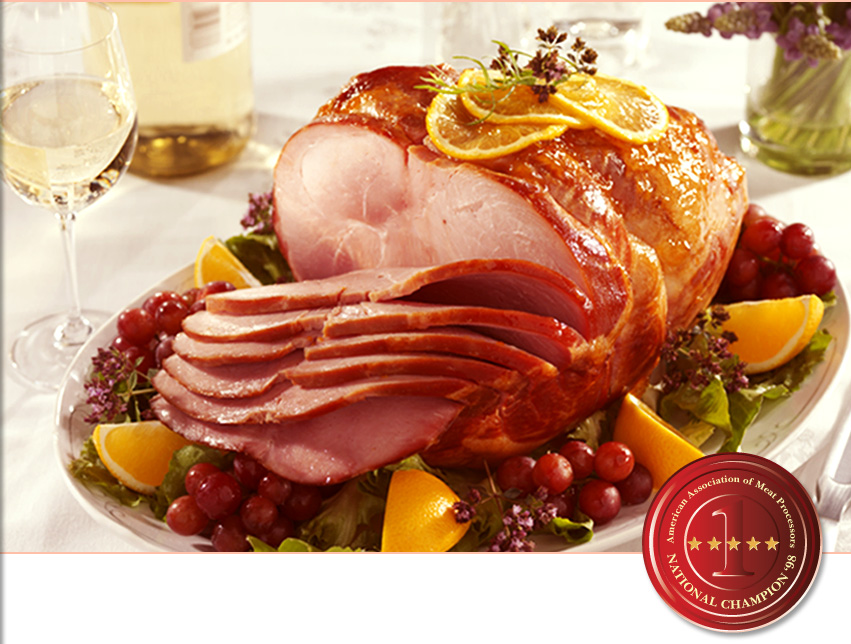 Old Fashioned Hickory Smoked Ham